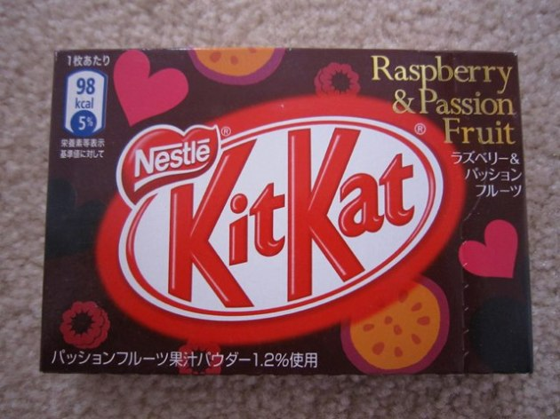 Raspberry & Passion Fruit Kit Kat - released specially for Valentine's Day!