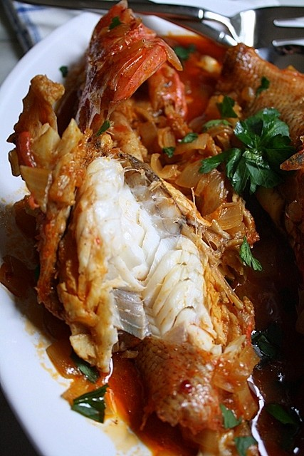 Steamed Scorpion Fish